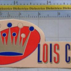 Pegatinas de colección: PEGATINA DE MARCAS DE ROPA. LOIS. Lote 195154278