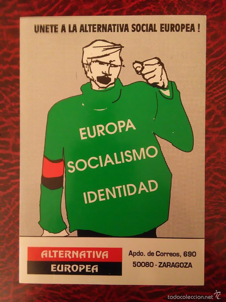 PEGATINA POLITICA ALTERNATIVA EUROPEA EUROPA SOCIALISMO IDENTIDAD (Coleccionismos - Pegatinas)