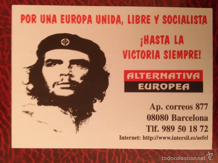 PEGATINA POLITICA ALTERNATIVA EUROPEA CHE HASTA LA VICTORIA SIEMPRE (Coleccionismos - Pegatinas)