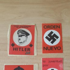 Pegatinas de colección: LOTE 4 PEGATINAS POLITICA - HITLER - JUVENTUD NACIONAL REVOLUCIONARIA - VER IMÁGENES. Lote 58565758
