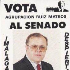 Pegatinas de colección: PEGATINA, PEGATINAS, ADHESIVO, ADHESIVOS. AGRUPACIÓN RUIZ MATEOS ELECCIONES 1989. Lote 58629767