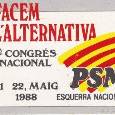 Pegatinas de colección: PEGATINA, PEGATINAS, ADHESIVO, ADHESIVOS. PARTIT SOCIALISTA DE MALLORCA-ESQUERRA NACIONALISTA 1988. Lote 58640778