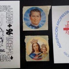 Pegatinas de colección: LOTE PEGATINAS RELIGIOSAS. Lote 58702101