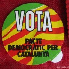 Pegatinas de colección: ADHESIVO PEGATINA VOTA PACTE DEMOCRÁTIC PER CATALUNYA. Lote 58764407