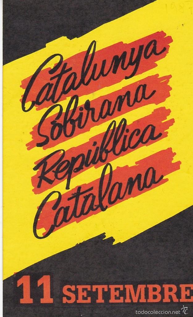 PEGATINA, PEGATINAS, ADHESIVO, ADHESIVOS. POSI 11 SETEMBRE 1987 (Coleccionismos - Pegatinas)
