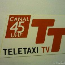 Pegatinas de colección: PEGATINA TELETAXI TV. Lote 59730276