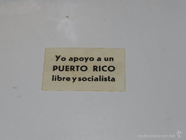 Usado, (A1176) PEGATINA POLITICA - YO APOYO A UN PUERTO RICO LIBRE segunda mano