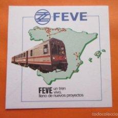 Pegatinas de colección: ADHESIVO PEGATINA FEVE FERROCARRIL . Lote 60111955