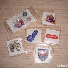 Pegatinas de colección: LOTE VARIADO GREFUSA ESCUDOS MARCAS HELLO KITTY..... Lote 61662728