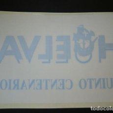 Pegatinas de colección: PEGATINA INVERSA O DE INTERIOR,HUELVA QUINTO CENTENARIO. Lote 64699639