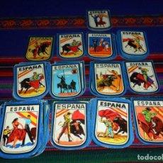 Pegatinas de colección: LOTE 102 PEGATINA ADHESIVO ESPAÑA AÑOS 90. SEVILLANAS, TOROS, TAUROMAQUIA. RAROS.. Lote 66110390