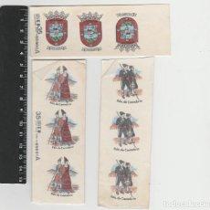 Pegatinas de colección: PEGATINAS CALCAMONIAS ANTIGUAS SANTANDER CANTABRIA ESCUDO MOTIVOS REGIONALES. Lote 222285262