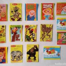 Pegatinas de colección: LOTE DE 15 PEGATINAS HELIOS. AÑOS 80 ---SIN PEGAR---. Lote 67028410