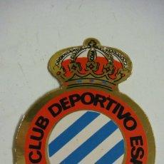 Autocolantes de coleção: PEGATINA DEL ESCUDO DE FUTBOL REAL CLUB DEPORTIVO ESPAÑOL. Lote 67885425