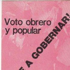 Pegatinas de colección: PEGATINA, PEGATINAS, ADHESIVO, ADHESIVOS. POSI ELECCIONES GENERALES 1979. Lote 68274073