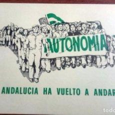 Pegatinas de colección: AÑOS 70,PEGATINA POLITICA, PTE, PARTIDO TRABAJADORES DE ESPAÑA, AUTONOMIA ANDALUCIA, RARA. Lote 71636350