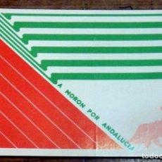 Pegatinas de colección: AÑOS 70, PEGATINA POLITICA , A MORON POR ANDALUCIA, CONCIERTO PRO AUTONOMIA. Lote 69871670