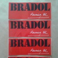 Pegatinas de colección: LOTE DE PEGATINAS DE BRADOL: RACING OIL, ACEITE PARA MOTOR (TAMBIÉN SE VENDEN POR SEPARADO).. Lote 69904133