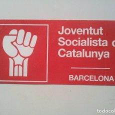 Pegatinas de colección: PEGATINA ADHESIVO. JOVENTUT SOCIALISTA DE CATALUNYA. JSC. BARCELONA. AÑOS 80. Lote 71102077