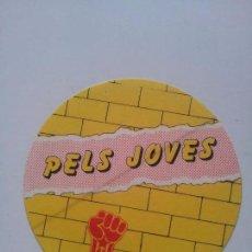 Pegatinas de colección: PEGATINA ADHESIVO. JSC. JOVENTUT SOCIALISTA CATALUNYA. PELS JOVES. MUNICIPALES 1983. Lote 71103977