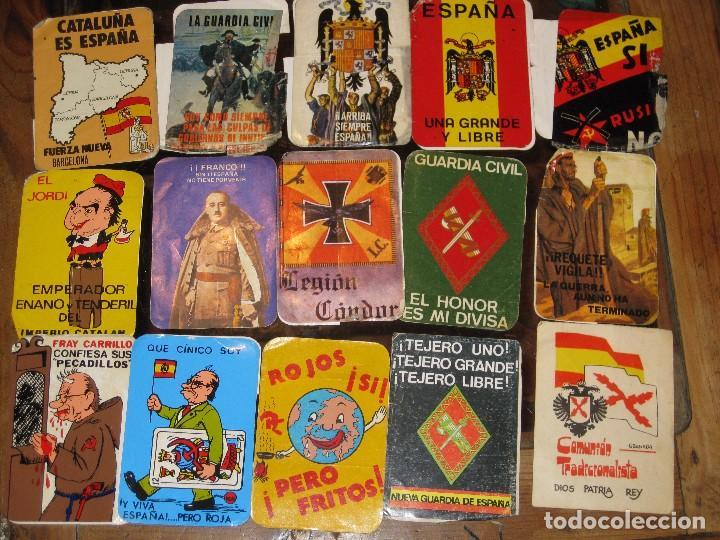 Pegatinas de colección: gran lote 15 pegatina politica españa franco tejero guardia civil requetes legion fuerza nueva - Foto 2 - 71209033