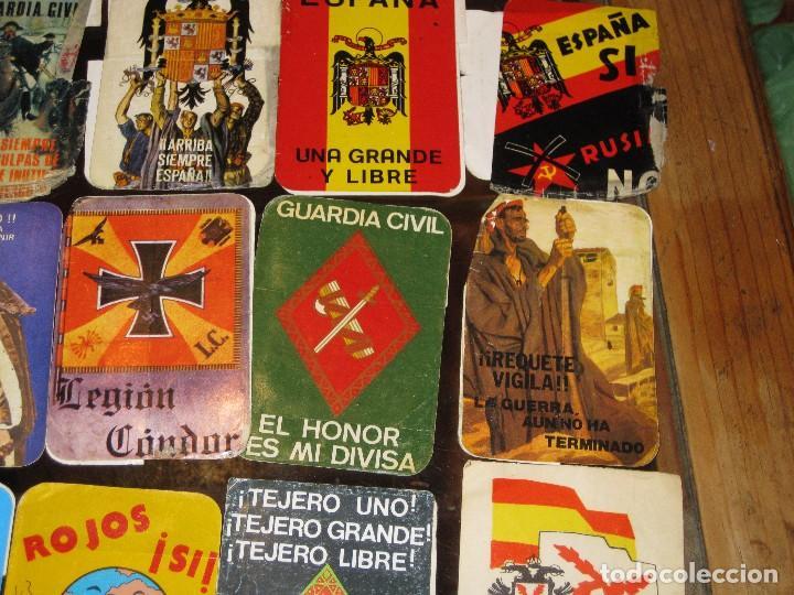 Pegatinas de colección: gran lote 15 pegatina politica españa franco tejero guardia civil requetes legion fuerza nueva - Foto 3 - 71209033