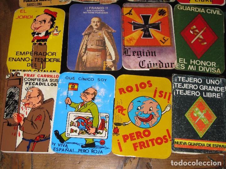 Pegatinas de colección: gran lote 15 pegatina politica españa franco tejero guardia civil requetes legion fuerza nueva - Foto 4 - 71209033