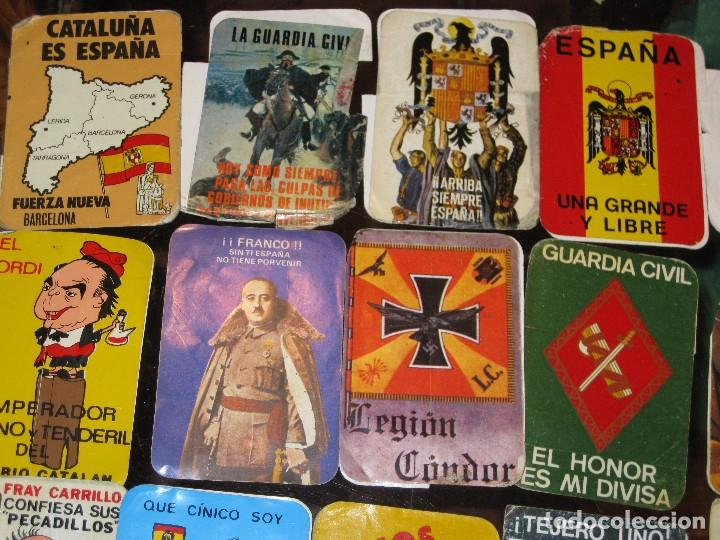 Pegatinas de colección: gran lote 15 pegatina politica españa franco tejero guardia civil requetes legion fuerza nueva - Foto 5 - 71209033