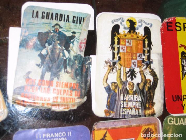 Pegatinas de colección: gran lote 15 pegatina politica españa franco tejero guardia civil requetes legion fuerza nueva - Foto 7 - 71209033