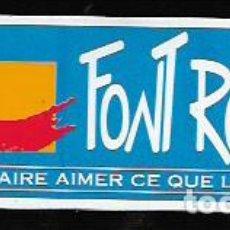 Pegatinas de colección: PEGATINA ADHESIVO * FONT ROMEU *. Lote 72041407