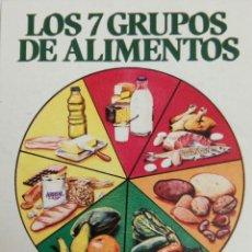 Pegatinas de colección: PEGATINA LOS 7 GRUPOS DE ALIMENTOS. Lote 72794790