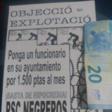 Pegatinas de colección: PEGATINA POLÍTICA MPC BARCELONA ESCLAT MOVIMENT PATRIOTIC CATALA. Lote 72871055