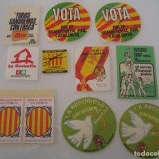 Pegatinas de colección: INTERESANTE LOTE 11 ADHESIVOS PEGATINAS POLITICAS VARIADOS NUNCA PEGADOS. Lote 72872467