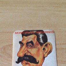Pegatinas de colección: PEGATINA POLITICA - MONSTRUOS MODERNOS - CAMPEON MUNDIAL DEL ASESINATO - BOICOT A MOSCU (VER FOTOS). Lote 73795171