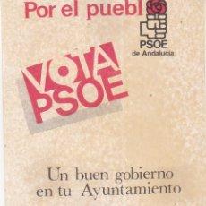 Pegatinas de colección: PEGATINA, PEGATINAS, ADHESIVOS, ADHESIVOS. PSOE ELECCIONES MUNICIPALES ANDALUCÍA 1983. Lote 74310183