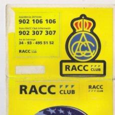 Pegatinas de colección: GRUPO DE PEGATINAS **RALLYE CATALUNYA-COSTABRAVA1998 RACC CLUB**. Lote 74982363
