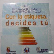 Pegatinas de colección: PEGATINA JUNTA CASTILLA LEON .-ETIQUETADO ENERGETICO. Lote 75254139