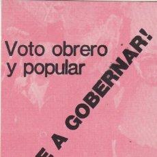 Pegatinas de colección: PEGATINA, PEGATINAS, ADHESIVO, ADHESIVOS. POSI ELECCIONES GENERALES 1979. Lote 75587995