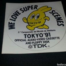 Pegatinas de colección: PEGATINA TDK WE LOVE SCENES TOKIO 91. Lote 76624230