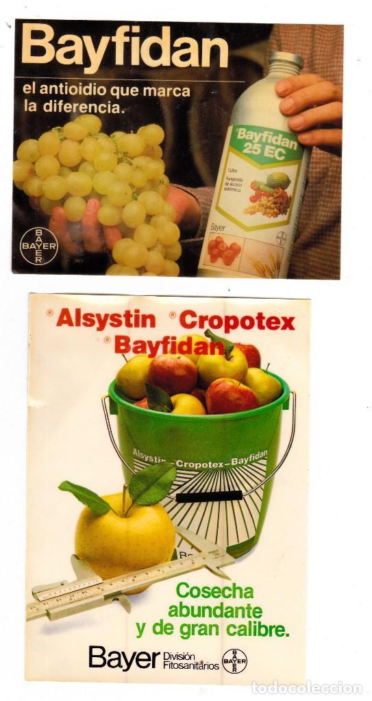 PEGATINAS BAYER PRODUCTOS AGRICULTURA (Coleccionismos - Pegatinas)