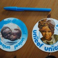 Pegatinas de colección: LOTE 2 PEGATINAS UNICEF. Lote 79607862