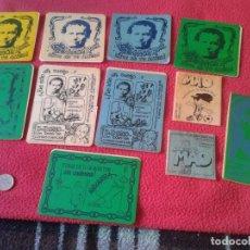 Pegatinas de colección: ANTIGUO LOTE DE 11 PEGATINAS STICKERS RELIGIOSAS SOLIDARIAS, SALESIANOS CAMINO JESÚS GENERACIÓN ROCK. Lote 80588166