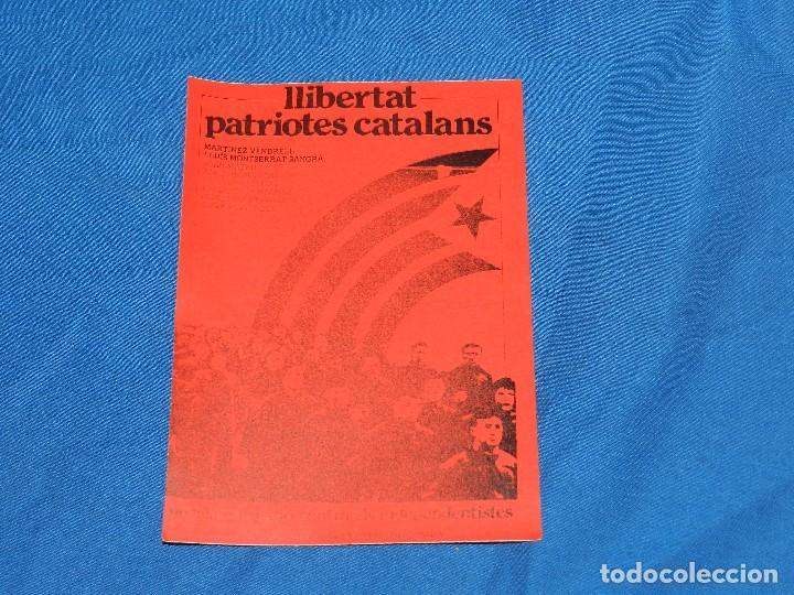 (B295) PEGATINA POLITICA - LLIBERTAT PATRIOTES CATALANS , GRAN TAMAÑO 18 X 13 CM segunda mano