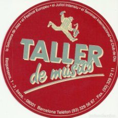 Pegatinas de colección: ADHESIVO PEGATINA TALLER DE MÚSICS DE BARCELONA. Lote 139908574