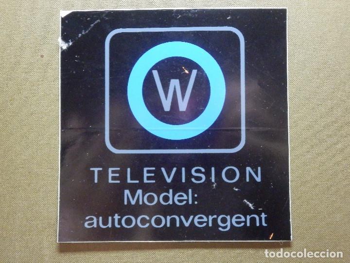 PEGATINA - ADHESIVO - STICKER - WERNER - TELEVISION - MODEL AUTOCONVERGENT - 10 X 10 CM. - (Coleccionismos - Pegatinas)