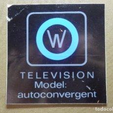 Pegatinas de colección: PEGATINA - ADHESIVO - STICKER - WERNER - TELEVISION - MODEL AUTOCONVERGENT - 10 X 10 CM. -. Lote 84643972