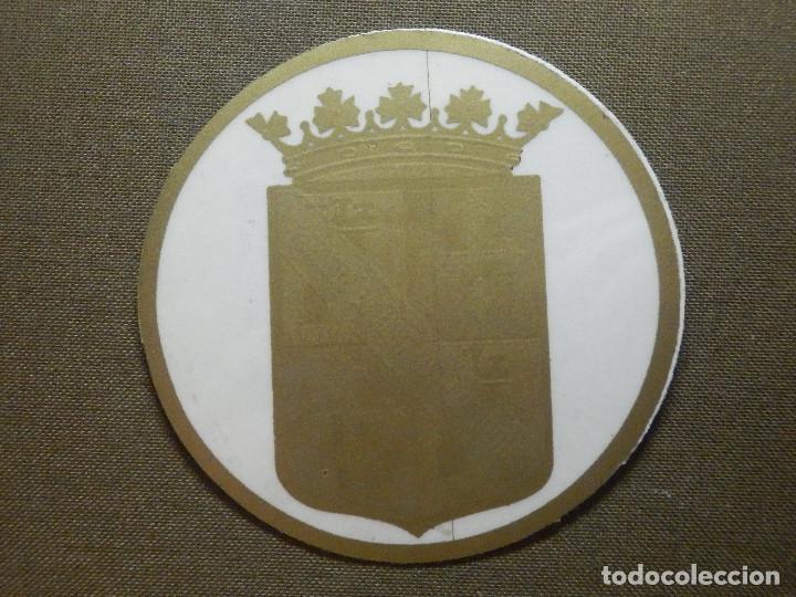 PEGATINA - ADHESIVO - STICKER - MUTUALIDAD PALENTINA DE SEGUROS - 70 MM. - P/ CRUSTAL (Coleccionismos - Pegatinas)