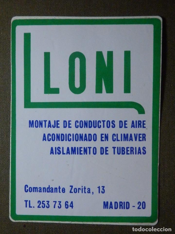 PEGATINA - ADHESIVO - STICKER - AIRE ACONDICIONADO - LLONI - COMANDANTE ZORITA 13 - 110 X 80 MM. - (Coleccionismos - Pegatinas)