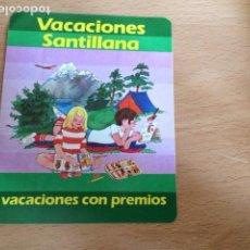 Pegatinas de colección: VACACIONES SANTILLANA. VACACIONES CON PREMIOS. Lote 85999604