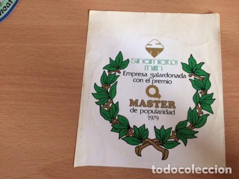 SANEAMIENTOS MARIN MASTER DE POPULARIDAD 1979 (Coleccionismos - Pegatinas)